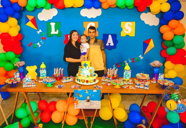Smash the cake  e Festa de       1 ano do Lucas